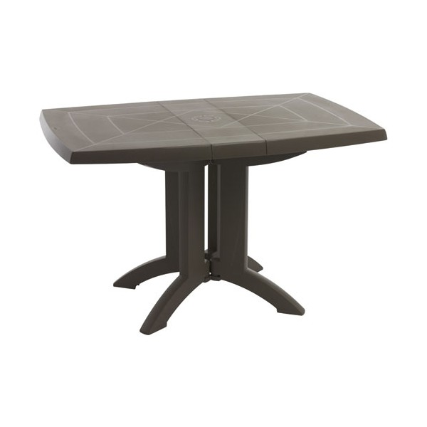 table de jardin vega pliante 118x77 cm taupe 52149181 grosfillex home boulevard. Black Bedroom Furniture Sets. Home Design Ideas
