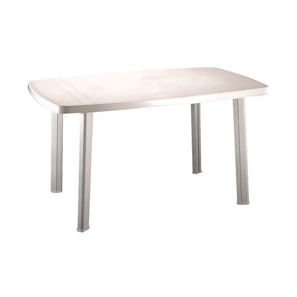 Table de jardin Faro - 140x85 cm - blanc - 909908 - PROGARDEN