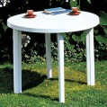 Table ronde Tondo - 90 cm - blanc - 906006 - Progarden