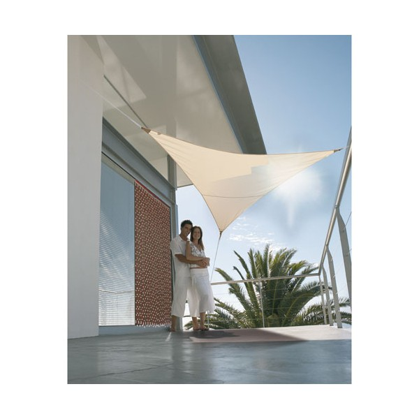 Voile ombrage triangulaire Serenity - 5x5 m - sable - VS 555 SABLE - JARDILINE