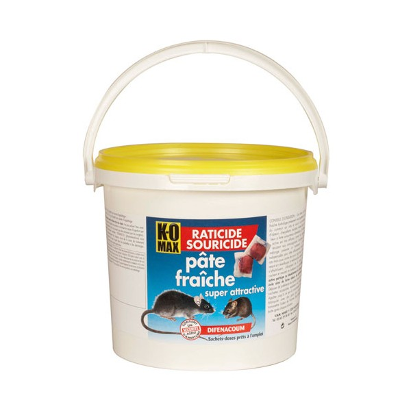 Raticide souricide en pâte - 1.5 Kg - XP1 - KOMAX
