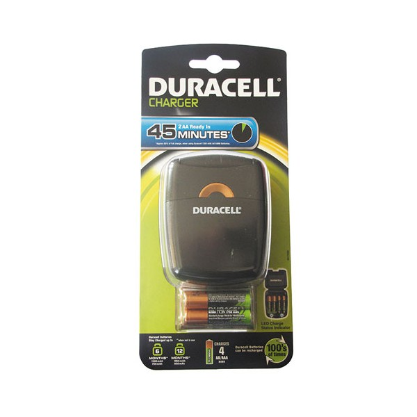 Chargeur CEF27 + 2 AA - 11452 - DURACELL