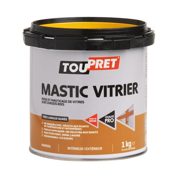 mastic vitrier blanc 1 kg lsmabla01 toupret home boulevard. Black Bedroom Furniture Sets. Home Design Ideas
