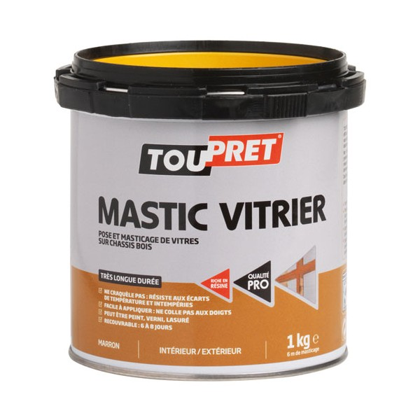 mastic vitrier marron 1 kg lsmama01 toupret home boulevard. Black Bedroom Furniture Sets. Home Design Ideas