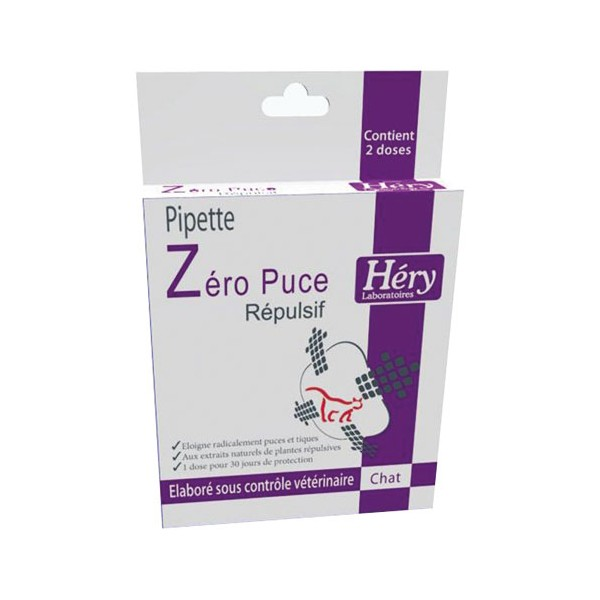 Pipette insectifuge pour chat - 2 mL - 60103010 - HERY