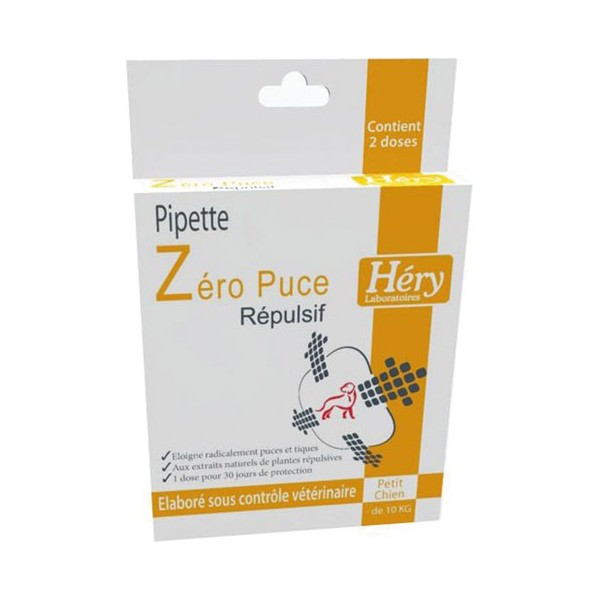 Pipette insectifuge pour petit chien - 2.5 mL - 60103004 - HERY