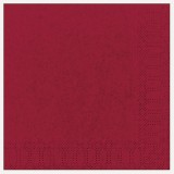 Serviettes jetables bordeaux 33 x 33 cm lot de 20