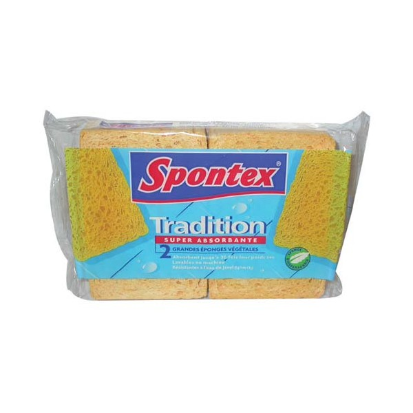 Lot de 3 éponges Tradition n°6 - super absorbante - SPONTEX