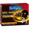 Rats et souris - lot de 8 blocs - 30 g - RSBLOC8 - Fertiligene
