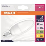 Led star flamme 6W E14 dépolie blanc chaud