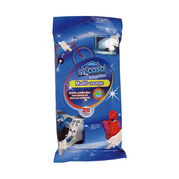 Lingettes nettoyante multi usage lot de 20 - 10802 - MI CASA