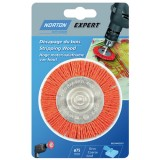 Brosse circulaire gros fil nylon 75 mm décapage