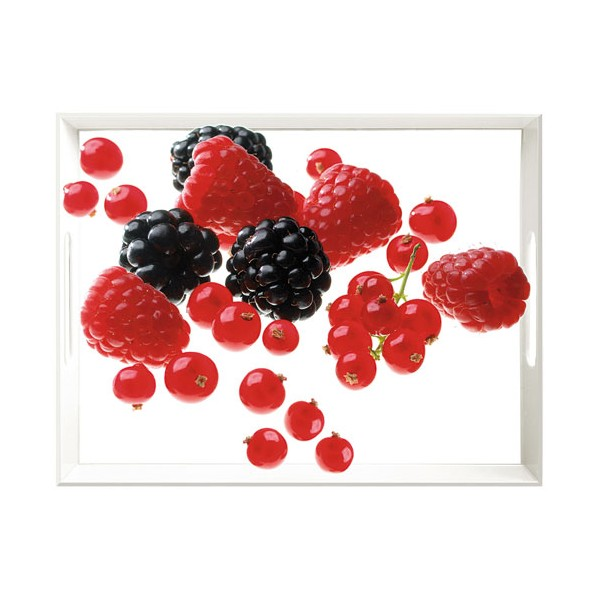 Plateau motif fruits rouges - 40 x 31 cm - 505549 - EMSA