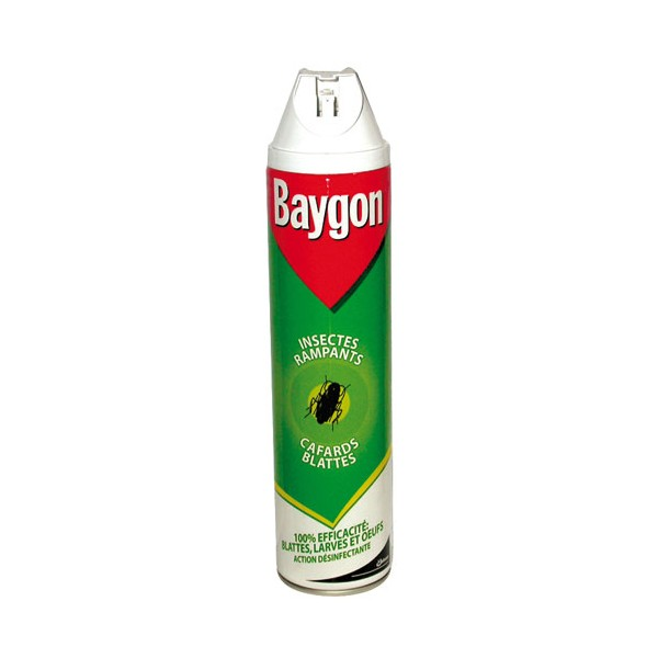 Insecticide aérosol rampants cafards + désinfectant - 600 mL - BAYGON