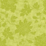 Serviette de table carrée Dunilin - décor Venezia vert - 40 x 40 cm - lot de 12