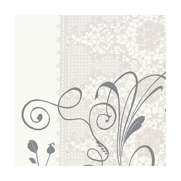 Serviette de table carrée Ouate - coloris Léa blanc - 33 x 33 cm - lot de 20 - 167226 - DUNI