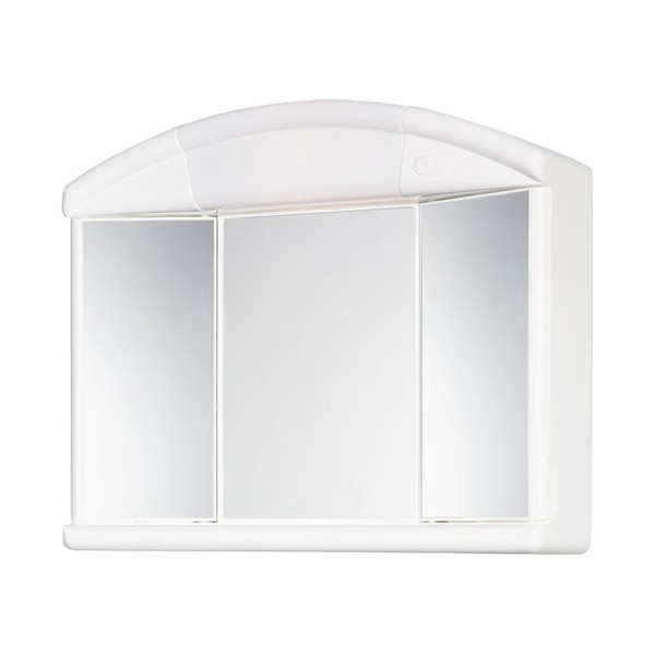 Armoire de toilette NATY - 2 portes + 1 miroir central - 818496 - ALLIBERT