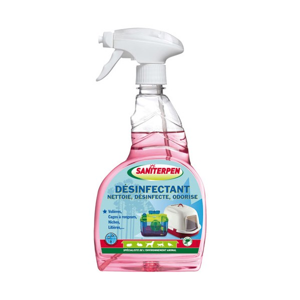 Spray désinfectant - habitat animal - 750 mL  - 4550 - SANITERPEN