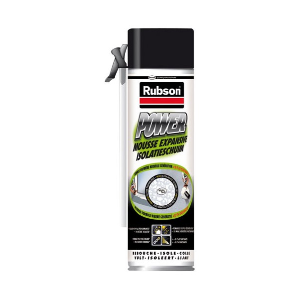 Mousse expansive isolante power bombe - 500 mL - 1450645 - RUBSON