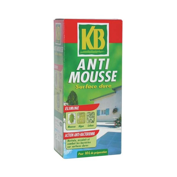 Antimousse concentr diluer surface dure 1 l mous1 kb home boulevard for Produit anti mousse