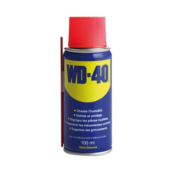 Bombe lubrifiante multi-fonctions WD-40 - 100 mL - 33001 - WD 40