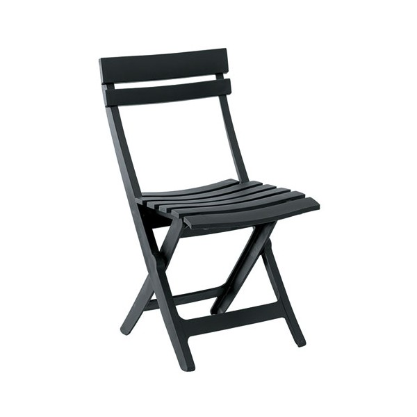 Chaise pliante Miami - anthracite - 49036002 - GROSFILLEX