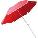 Parasol droit inclinable - rouge - D : 240 cm