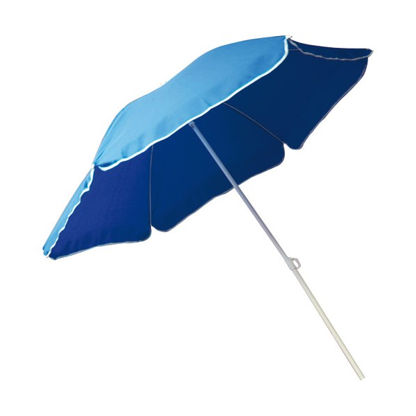 Parasol droit inclinable - bleu - D : 240 cm - 1392 - OZALIDE