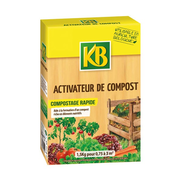 Activateur compost - granules - 1.5 Kg - KBCOMPO - KB