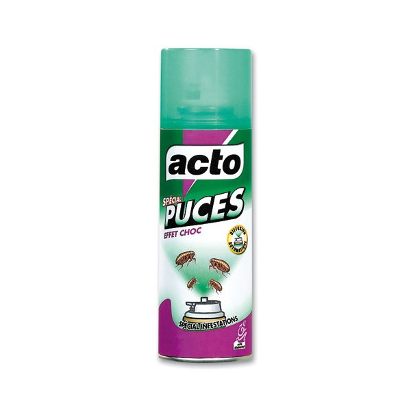 Insecticide bombe autodiffuseur spécial puces - 200 mL - PUCE1 - ACTO