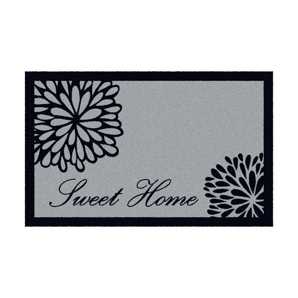Tapis absorbant graphique 50 x 76 cm motifs sweet home for Tapis de cuisine absorbant