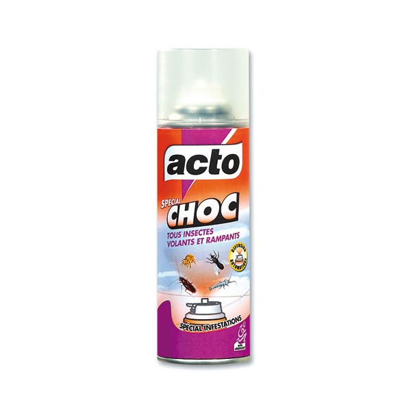Insecticide aérosol choc tous insectes - 200 mL - CHOC3 - ACTO