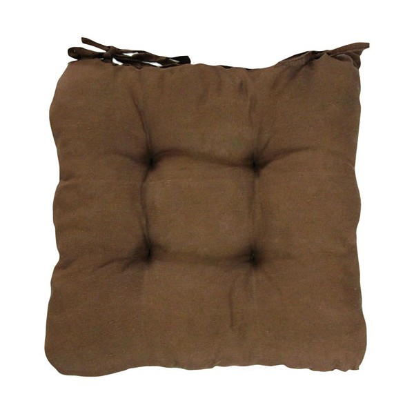 Coussin de chaise carré Ginevra - chocolat  - 59130 - GEMITEX
