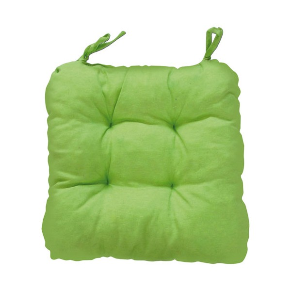 Coussin de chaise carré Ginevra - vert anis - 59123 - GEMITEX