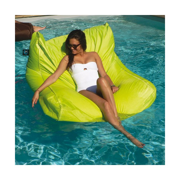 pouf gonflable ext rieur piscine vert anis 6014v