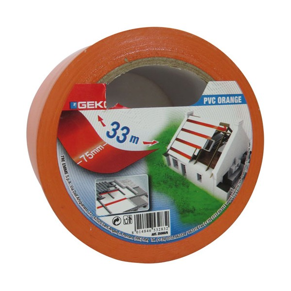 Adhésif PVC - 50 mm x 33 m - orange - 25000/6 - GEKO