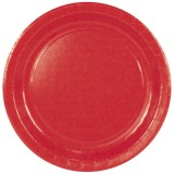 Assiette carton red - D : 23 cm - lot de 10