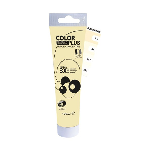 Colorant universel liquide triple concentré - jaune bouton d'or - 100 mL - 11055593 - COLOR PLUS