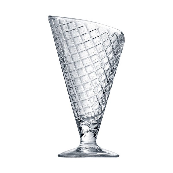 Coupe à glace Cornet transparent 28 cL - lot de 2 - 21990 - BORMIOLI