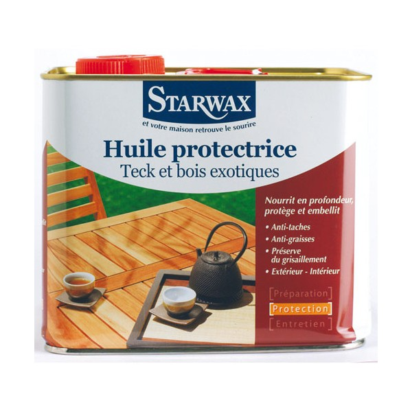 Huile protectrice - teck, bois exotique - 2 L - 200 - STARWAX