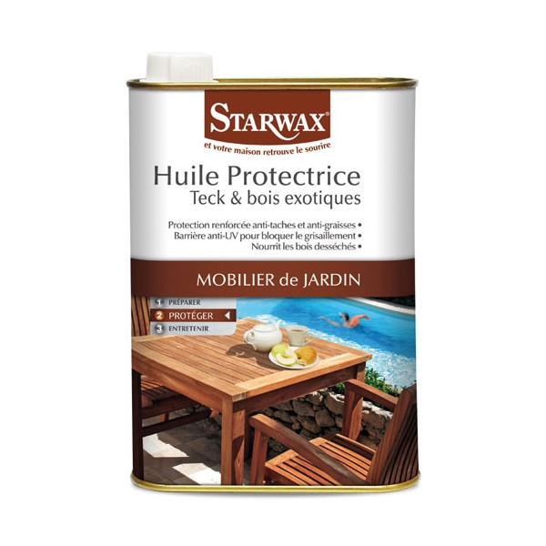 Huile protectrice - teck, bois exotique - 500 mL - STARWAX