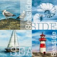 Serviette papier 33 x 33 cm - seaside - lot de 20 - 413401 - Hosti