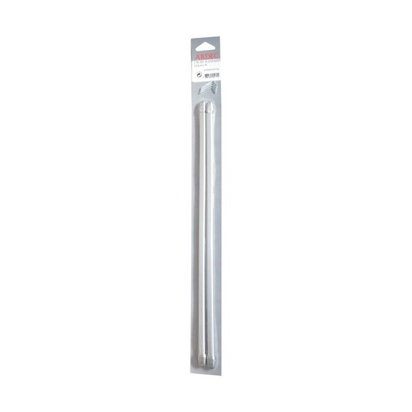 Tringle plate extensible 40 à 70 cm - blanc satiné - lot de 2 - 405SKSN4070A - ARDEC