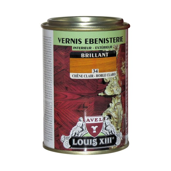 Vernis bois brillant - merisier - 250 mL - LOUIS XIII
