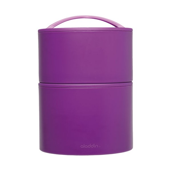 Bento lunch box 0.95 L - 2 compartiments - violet - 135025 - ALADDIN