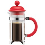 Cafetière Caffettiera 3 tasses 0.35 L - piston - rouge
