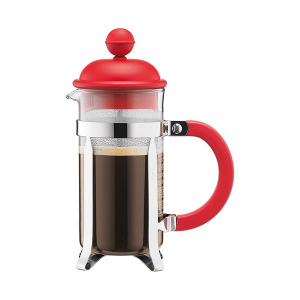 Cafetière Caffettiera 3 tasses 0.35 L - piston - rouge - 1913-294 - BODUM