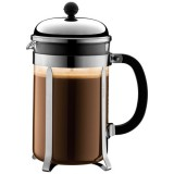 Cafetière Chambord 12 tasses 1.5 L - piston - chromé brillant