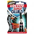 Colle Super glue3 - ultragel - 3 g  - 1601022 - Loctite