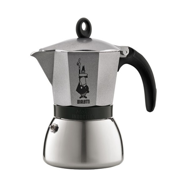 Cafetière Moka induction 3 tasses - italienne - anthracite  - 4822 - BIALETTI